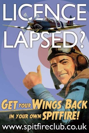 Lapsed licence PPL Get your wings back fly a Spitfire