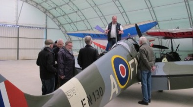 Spitfire tour at Enstone flying club