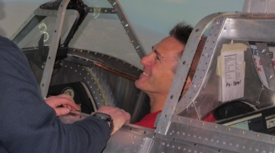 Spitfire Simulator pilot Enstone Flying Club
